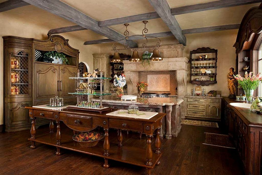 Country Styled Kitchen Special Aspects Of Decoration
