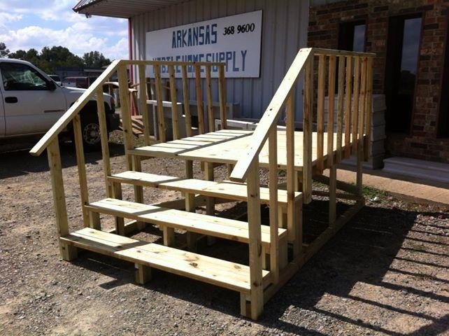 Mobile Home Steps Decks Bestofhouse Net 9657 | Wood Mobile Home Steps | Double Wide | Pressure Treated | Temporary | Wood Camper | Stained Wood