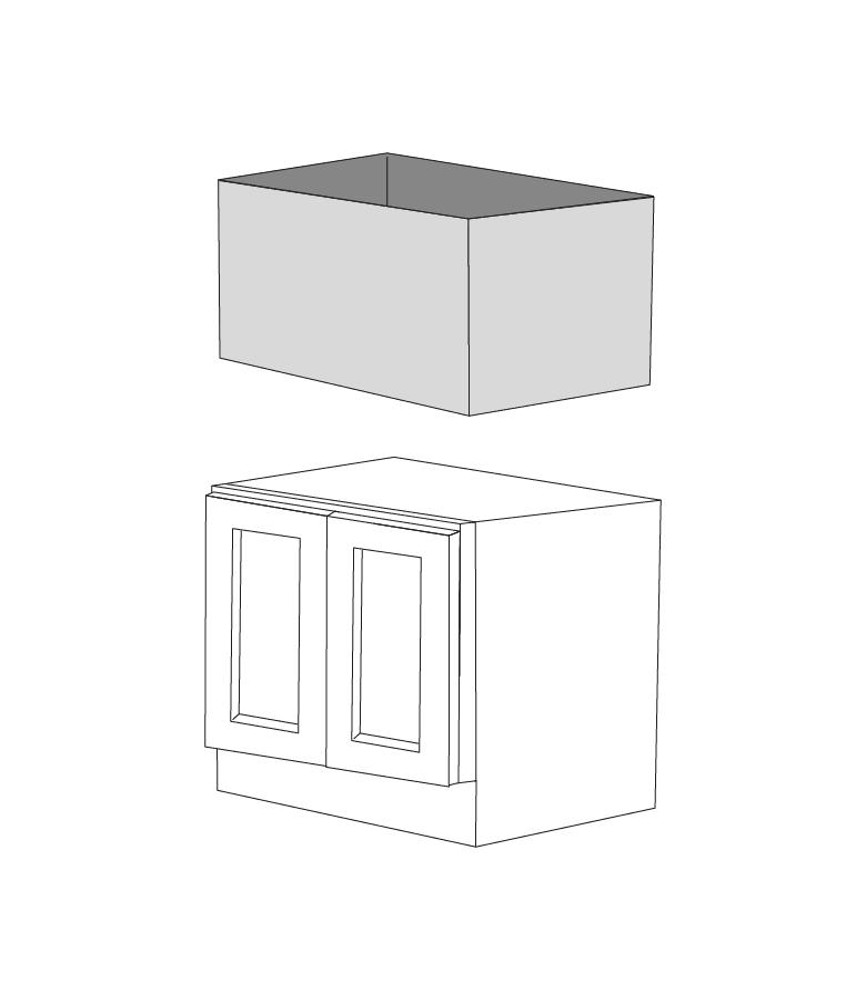 malibu grey shaker 30 apron sink base cabinet with 21 height doors rta
