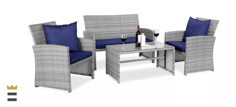 Best Choice Products Wicker Patio Conversation Set