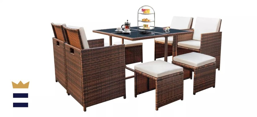 Devoko 9 Piece Patio Dining Set