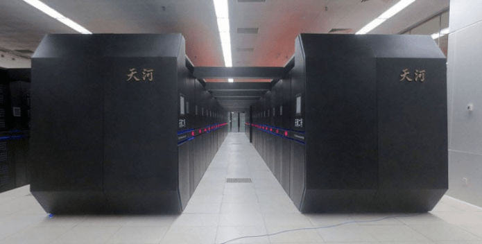 The NUDT Tianhe-2 supercomputer in Guangzhou, China