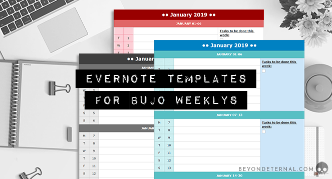 Evernote Templates For Bujo Weeklys Beyond Eternal