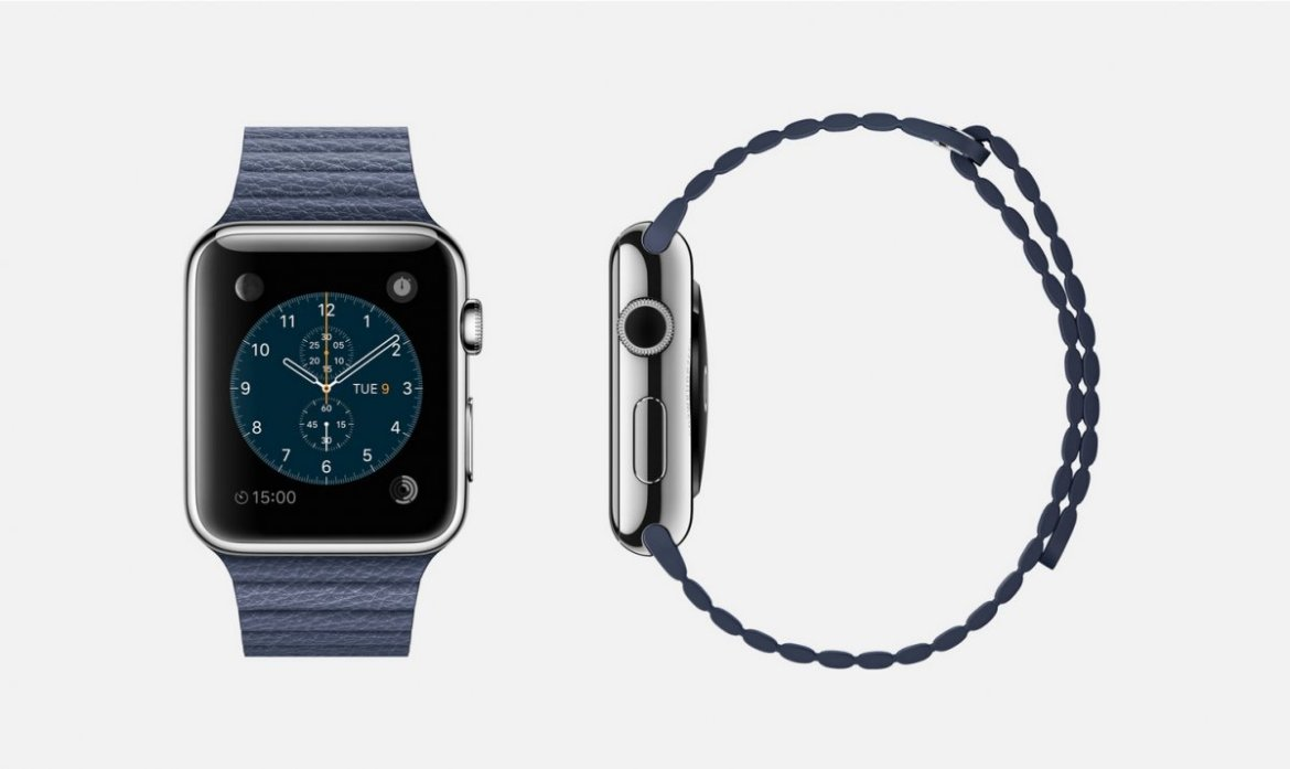 bright-blue-leather-316l-stainless-steel-apple-watch-42mm-case-only-with-bright-blue-leather-loop-band-magnetic-closure-sapphire-crystal-retina-display-and-ceramic-back