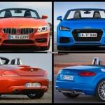 Bild Vergleich Audi Tt Roadster 2015 Vs Bmw Z4 Roadster E89
