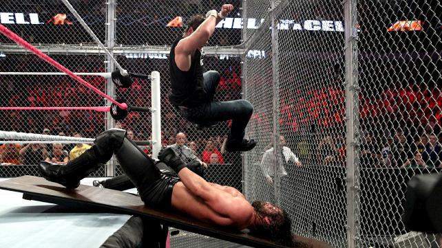 Image result for Hell in a Cell Dean Ambrose vs Seth Rollins