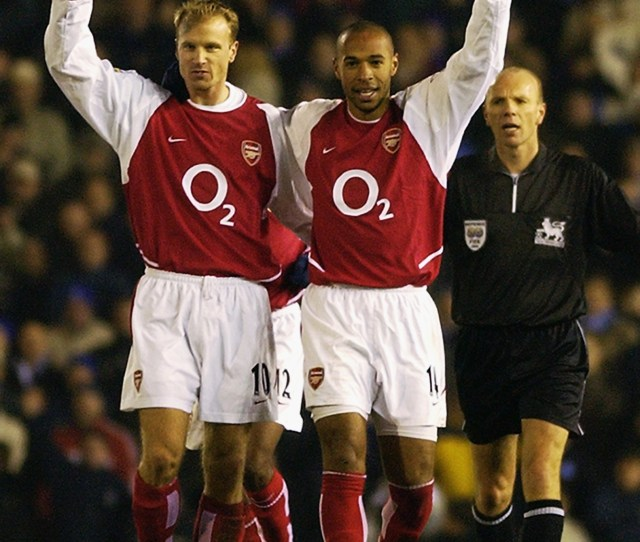 Birmingham January  Thierry Henry Of Arsenal Celebrates Scoring His Th Goal For Arsenal