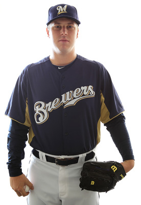 MARYVALE, AZ - FEBRUARY 24:  Cody Scarpetta #72 of the Milwaukee Brewers poses for a portrait during Spring Training Media Day on February 24, 2011 at Maryvale Stadium in Maryvale, Arizona.  (Photo by Jonathan Ferrey/Getty Images)