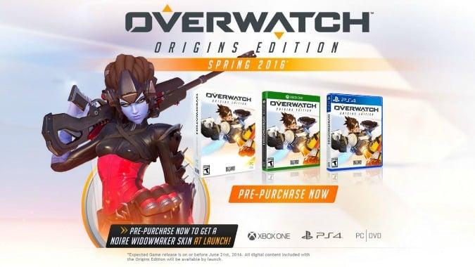 Overwatch Origins Edition 40 Preorder Offer Console