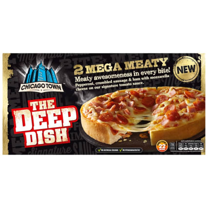 Chicago Town 2 Deep Dish Mega Meaty Pizzas 320g Pizza B Amp M