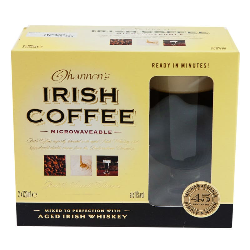 Shannon S Irish Coffee Gift Set 2 X 120ml Alcohol Gift Sets