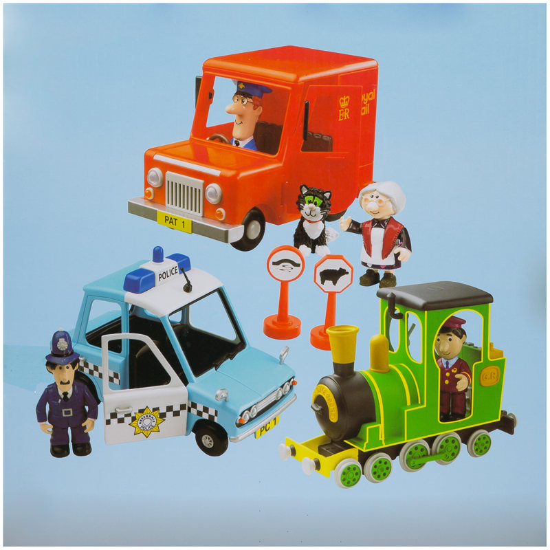 BampM Postman Pat Friction Action 3 Vehicle Playset 271613