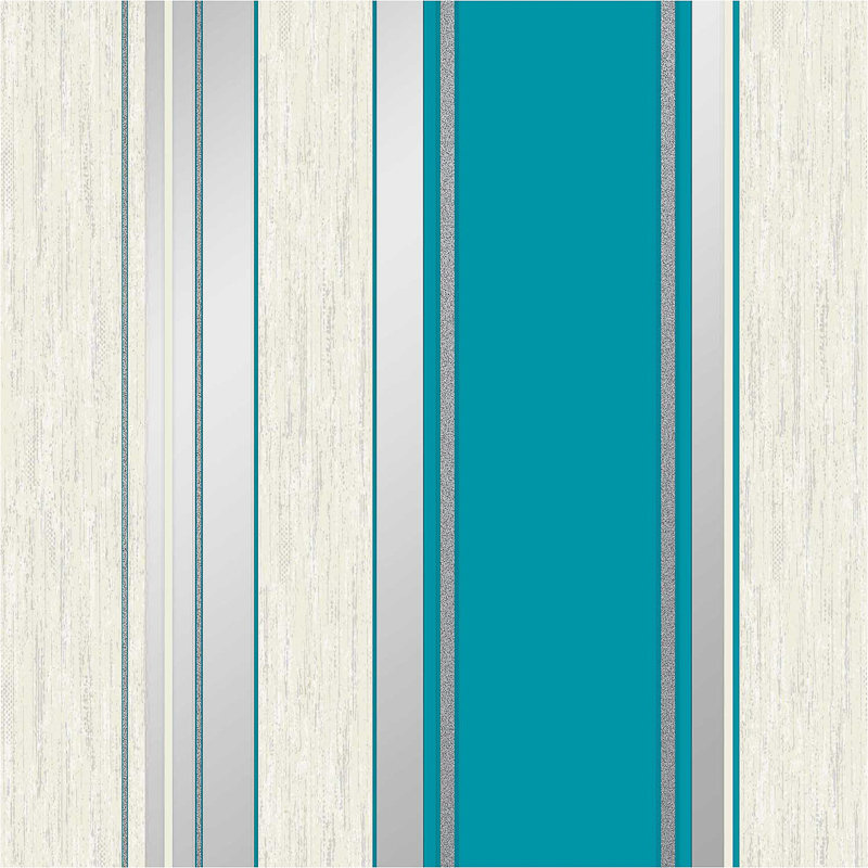 Vymura Synergy Stripe Wallpaper Teal Decorating DIY