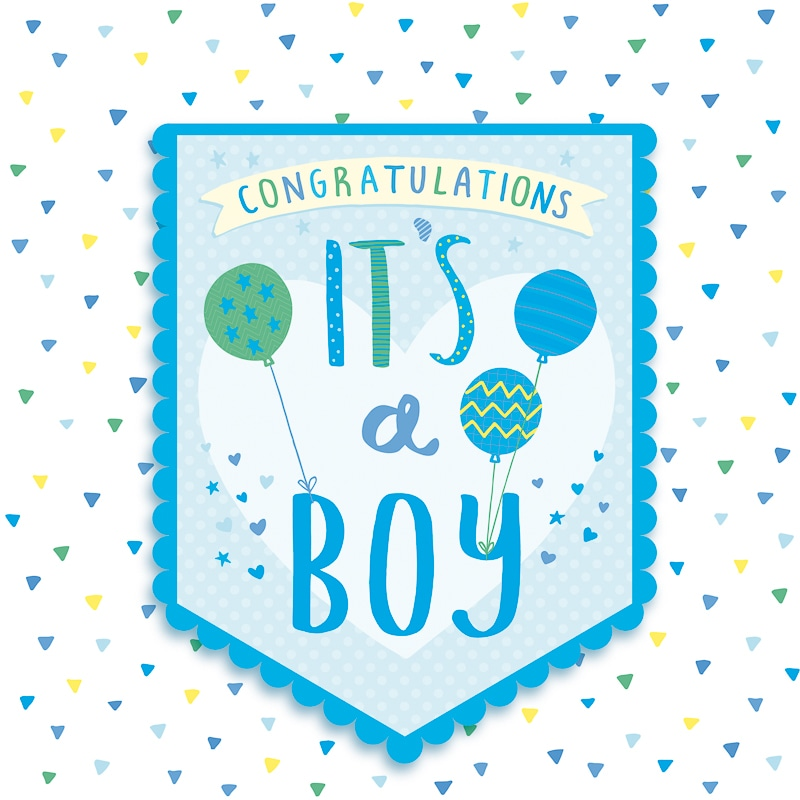 Its A Boy Baby Card Greeting Cards BampM