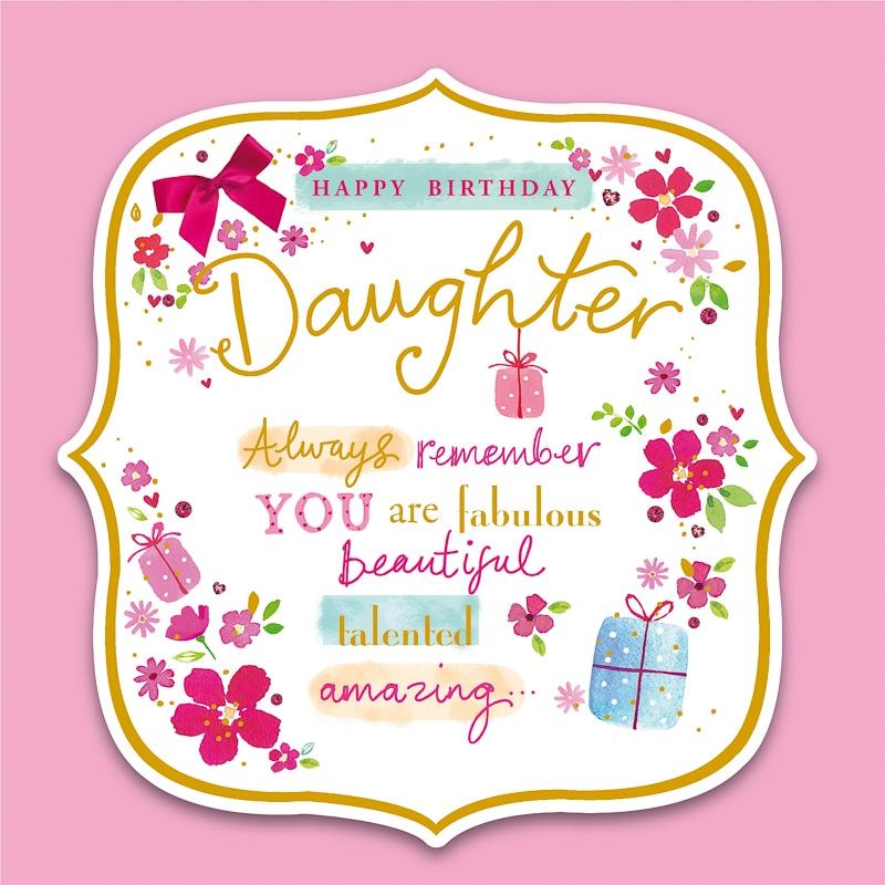 Happy Birthday Daughter Birthday Card Greeting Cards B M