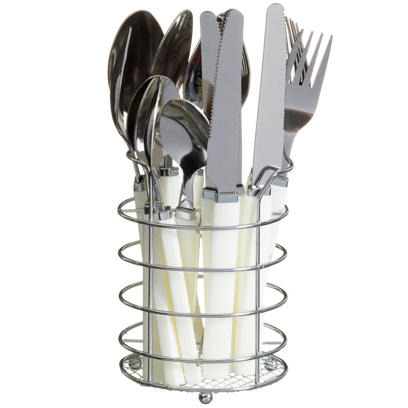 White Kitchen Knife Set