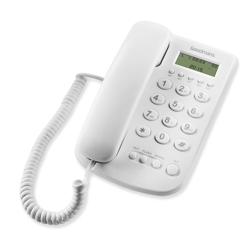 Goodmans Desk Phone White Cordless Telephones