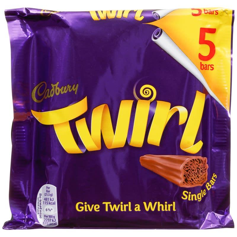 Cadbury Twirl 5pk Chocolate Bars Chocolate Multipack