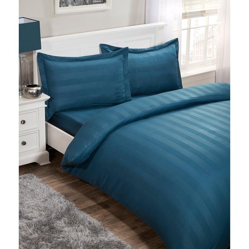 Silentnight Satin Stripe Complete Bed Set King Bedding BampM