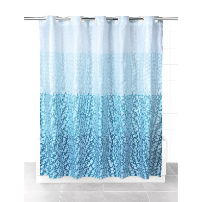 beldray hookless shower curtain blue