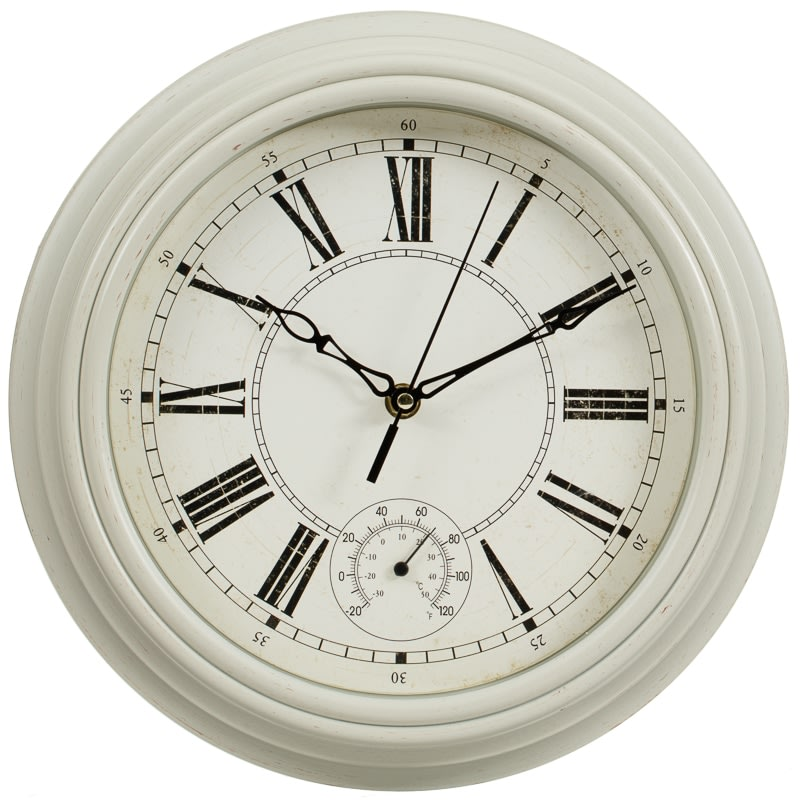 Traditional Lincoln Wall Clock Cream Home Decor B M