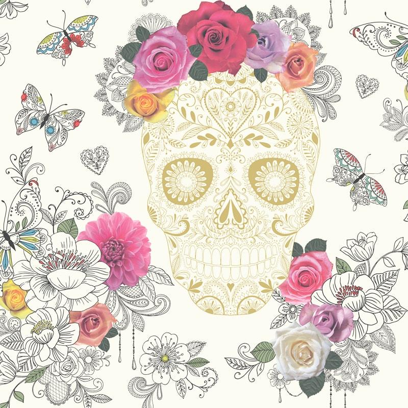 Rasch Sugar Skulls Wallpaper Decorating BampM Stores