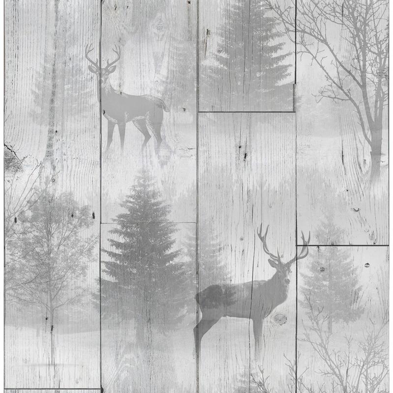 Highland Plank Wallpaper Neutral Wallpaper BampM