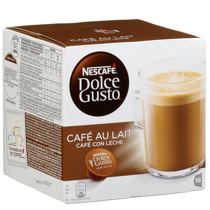 Nescafe Dolce Gusto Cafe Au Lait Coffee Hot Drinks