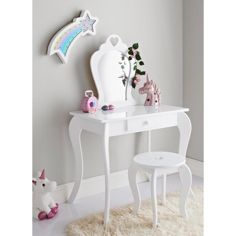 amelia vanity set with stool mirror
