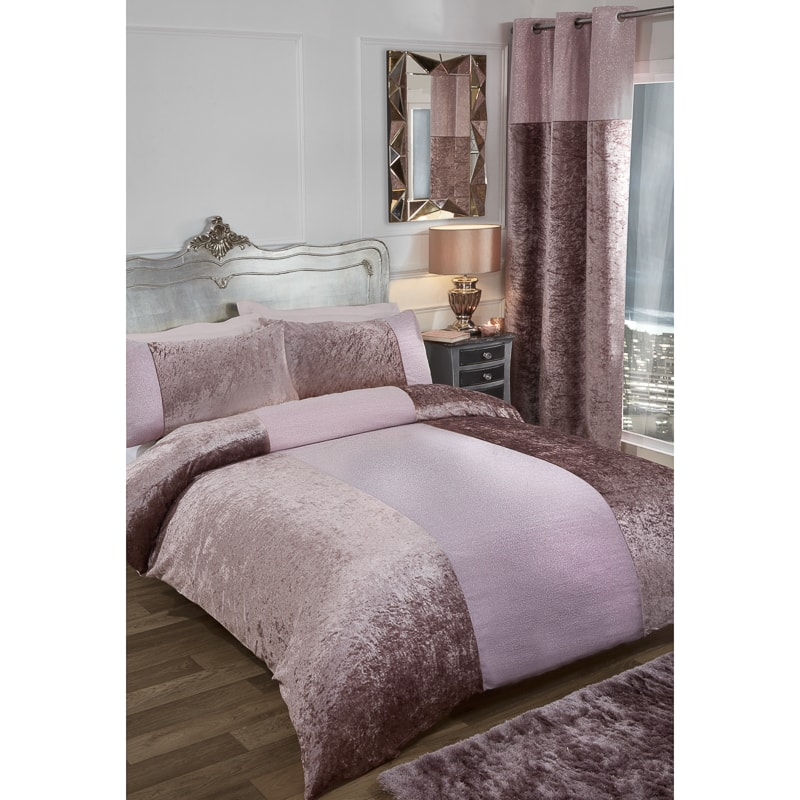 Karina Bailey Sparkle King Duvet Set Blush Bedding BampM
