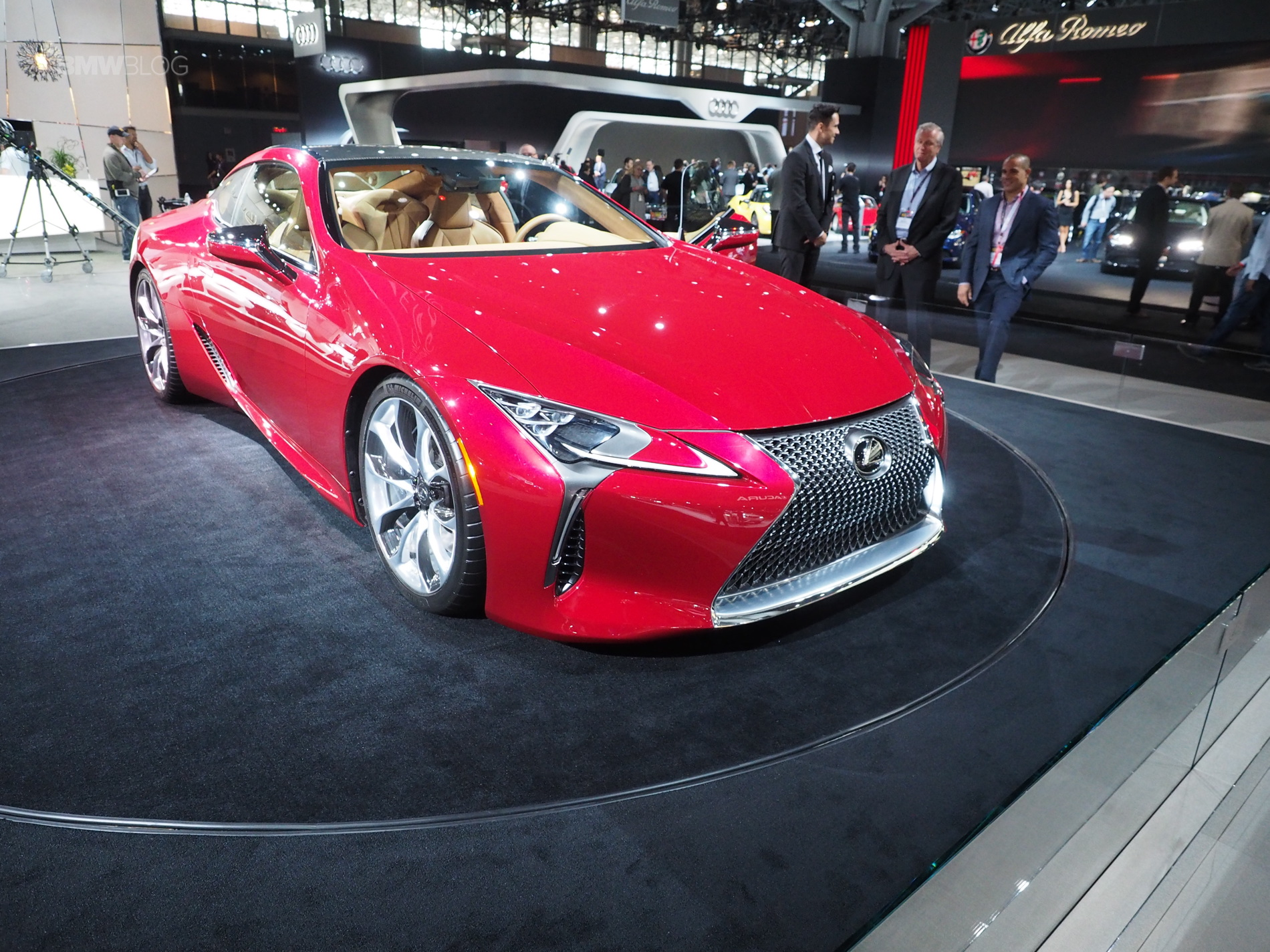 The Lexus LC 500 coupe debuts in New York