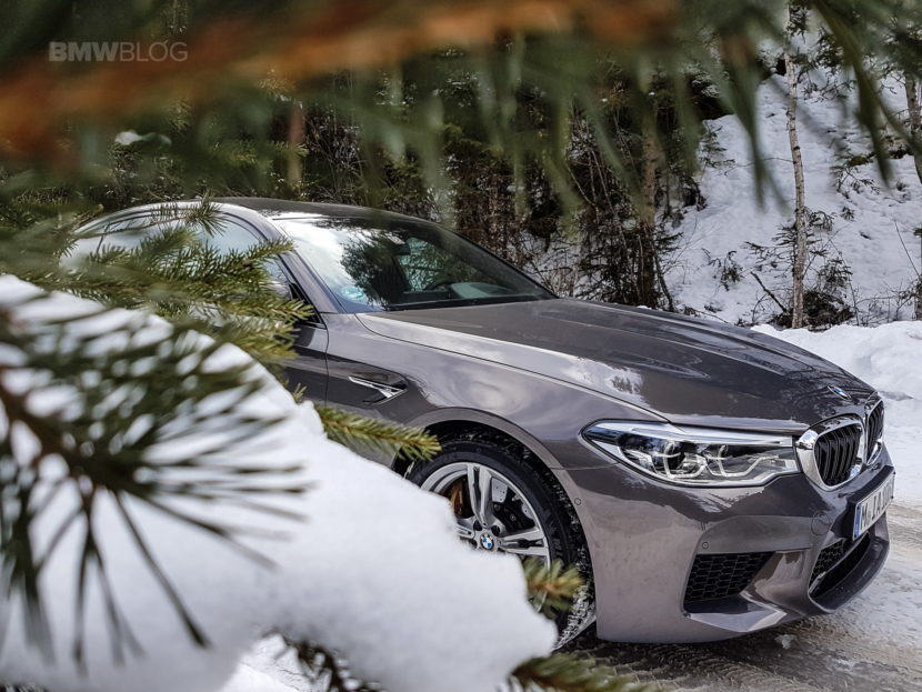 The New Bmw M5 In Champagne Quartz Goes Into The Alps Penner Donna