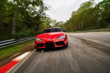 Car and Driver pits the Toyota Supra against the Shelby GT350