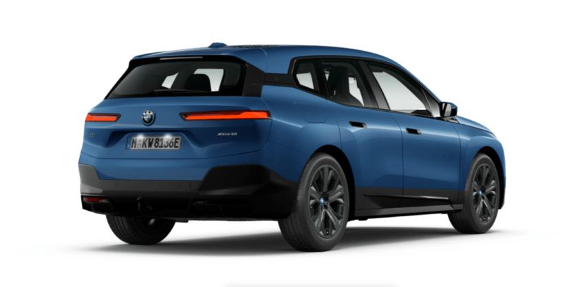 The New BMW iX Essence Shadow Line Phytonic Blue metallic 830x418