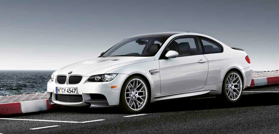 M3 Competition Package Carbon Fiber Front Splitters installed on white E92 M3
