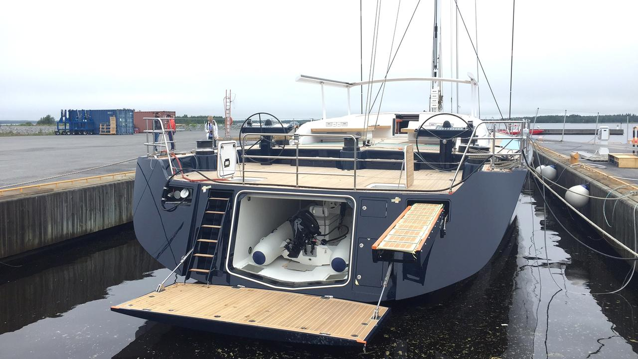 On Board The Newly Launched Swan 115 Sailing Yacht With VP