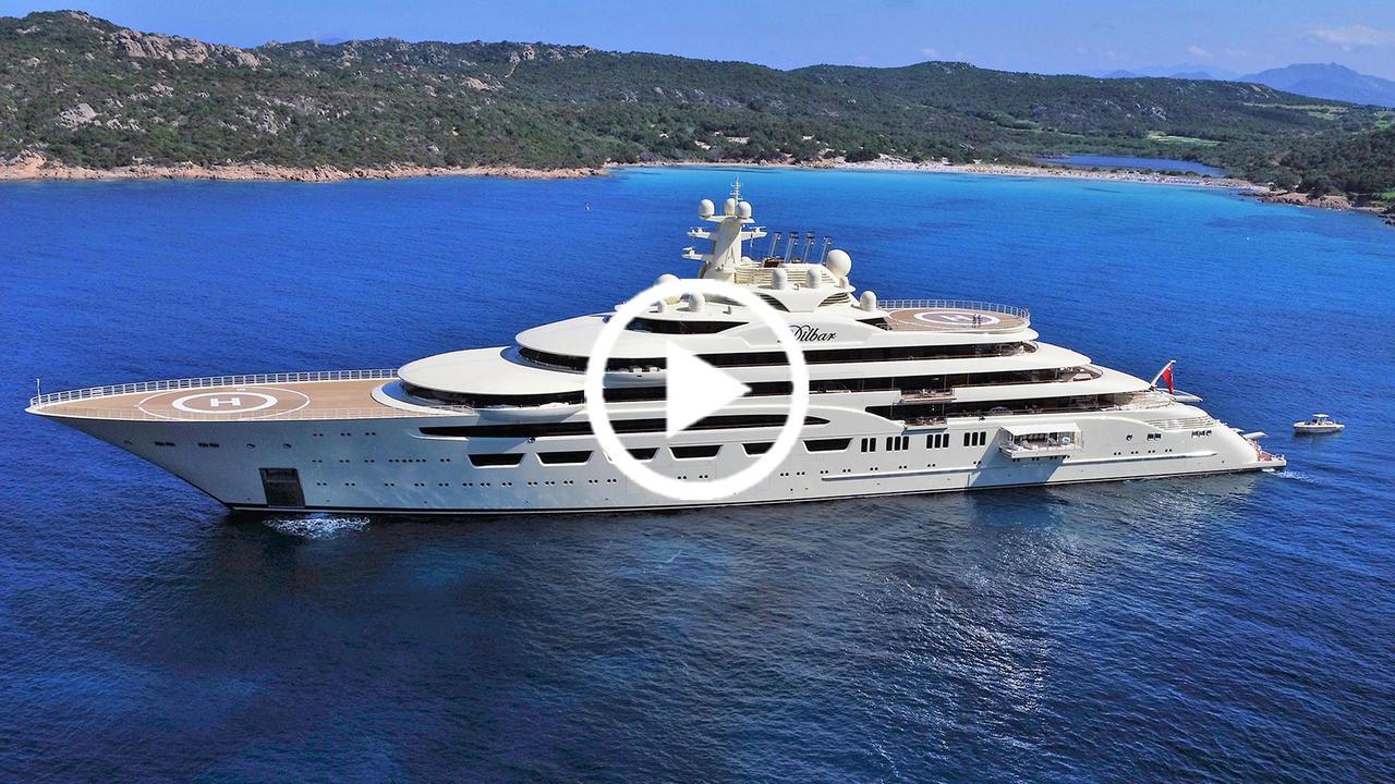 Video Lrssen 156m Dilbar Delievered To The Mediterannean