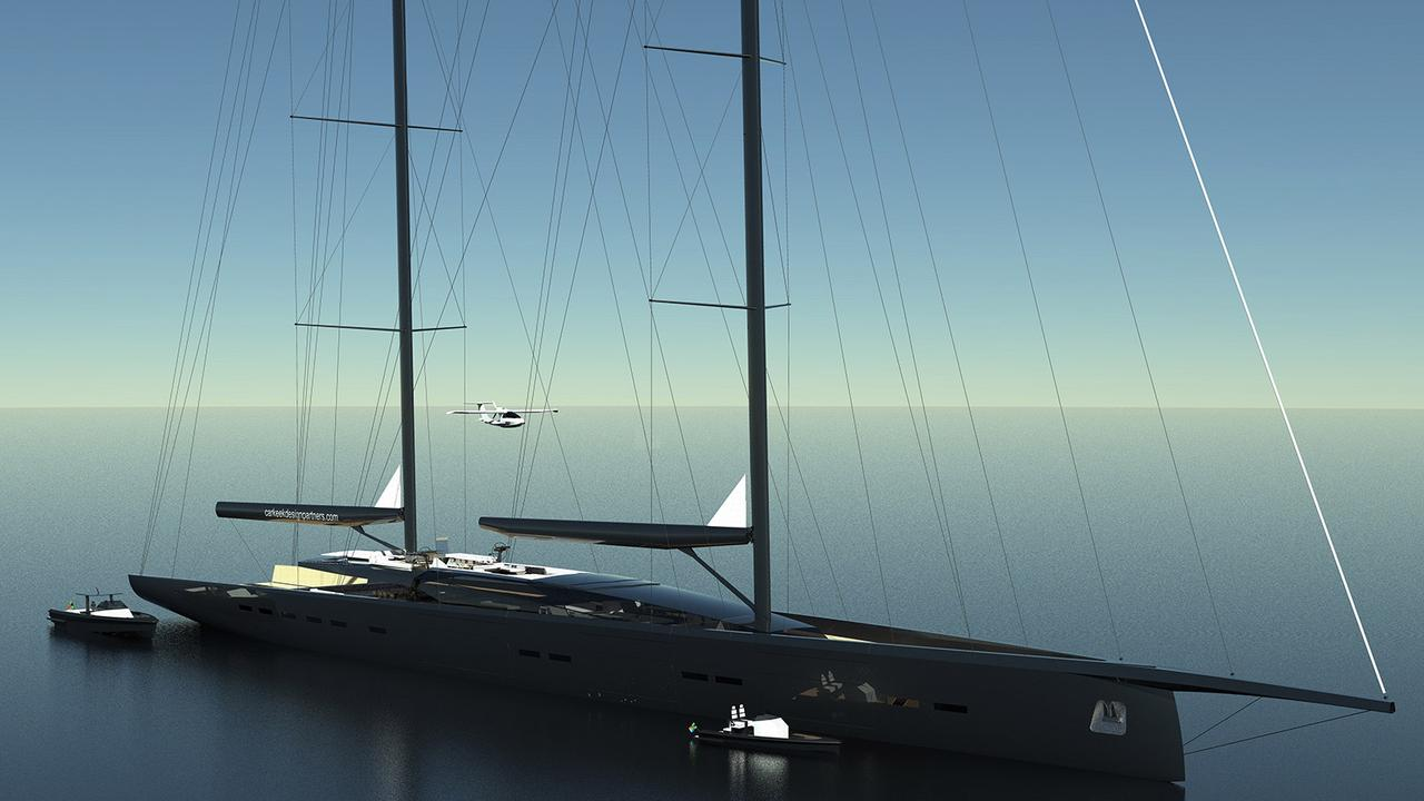 Shaun Carkeek Designs 91m Sailing Yacht Concept C300