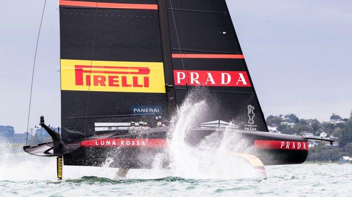 Luna Rossa Prada Pirelli racing at the 36th America's Cup