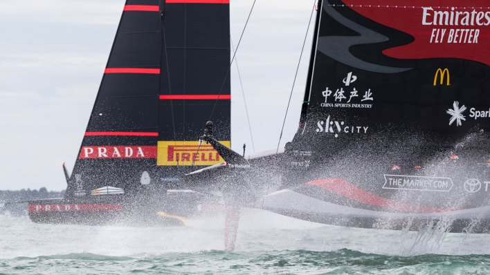 Racing at the 36th America's Cup