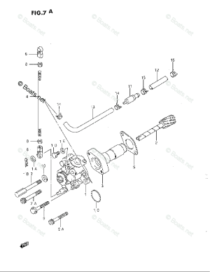 Suzuki Outboard Parts by Model DT 40 OEM Parts Diagram for
