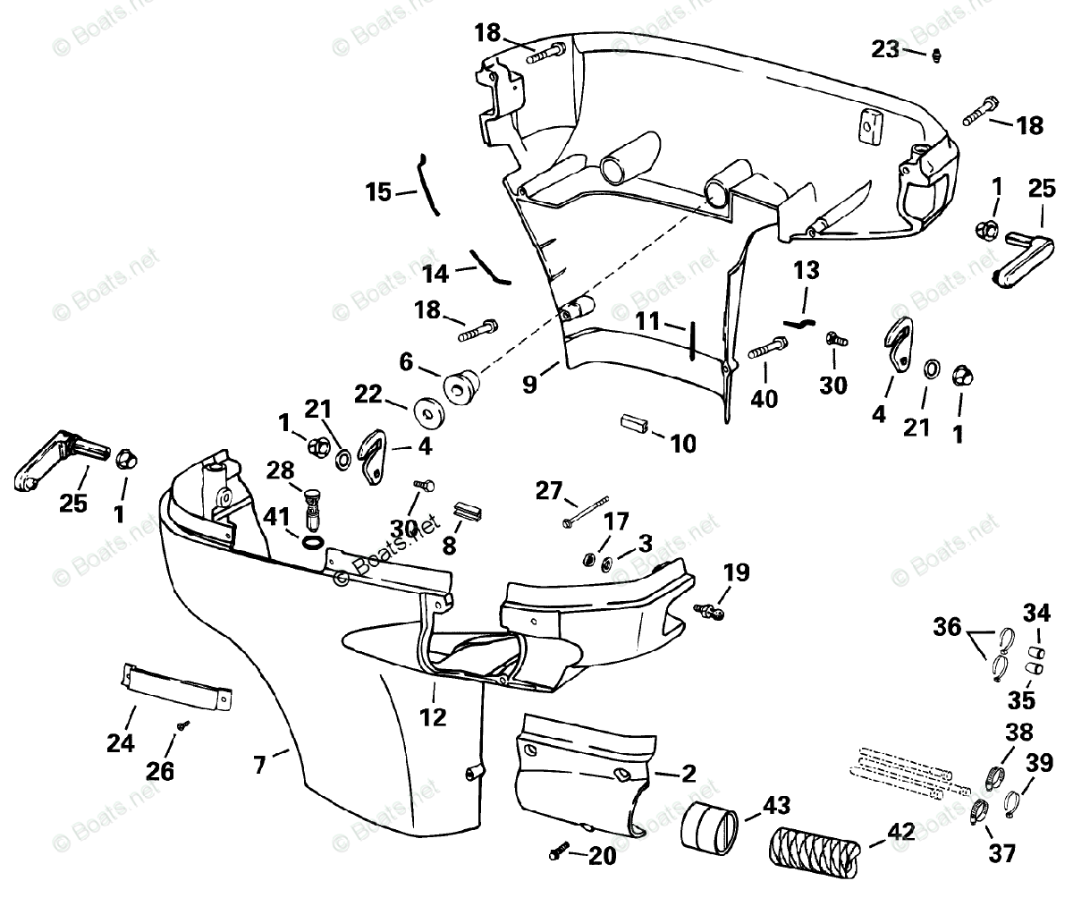 Evinrude Outboard Parts By Hp 175hp Oem Parts Diagram For