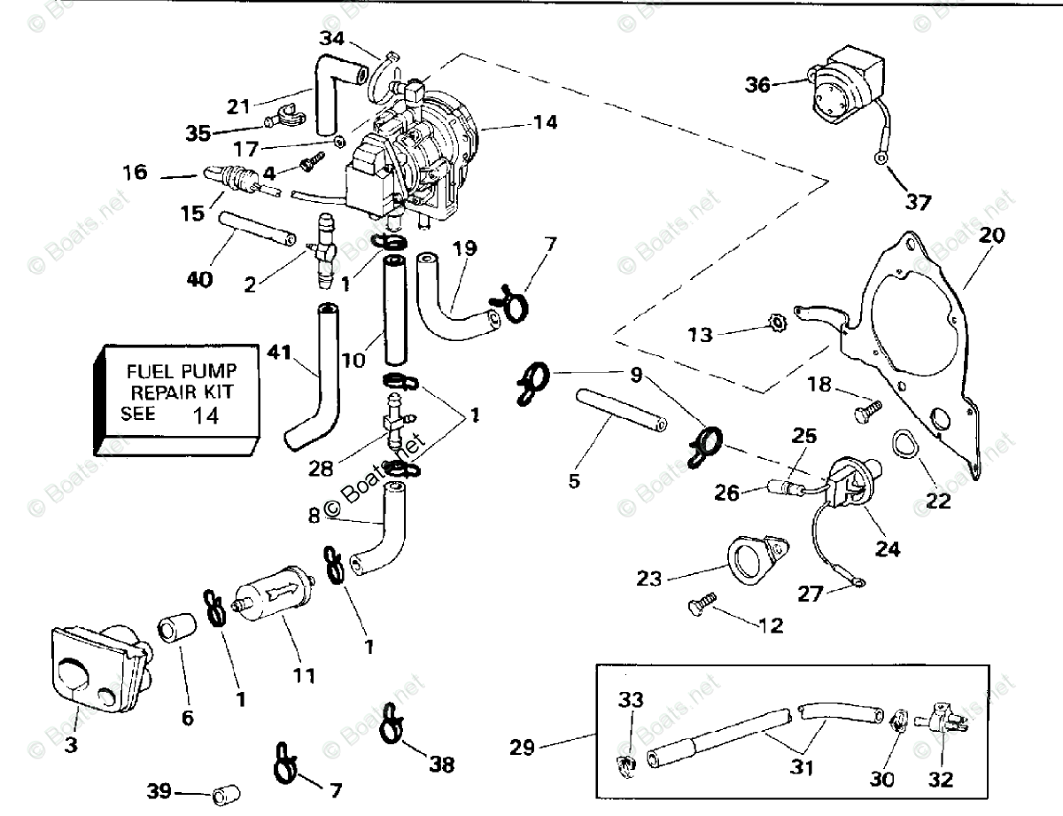 Johnson Outboard Parts By Hp 225hp Oem Parts Diagram For