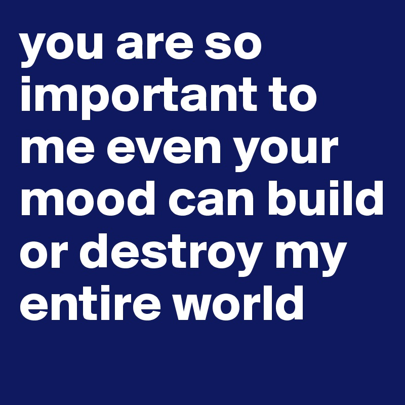 You Are So Important Me Quotes