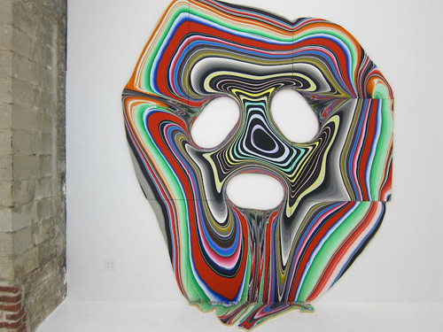Pour paintings by artist Holton Rower