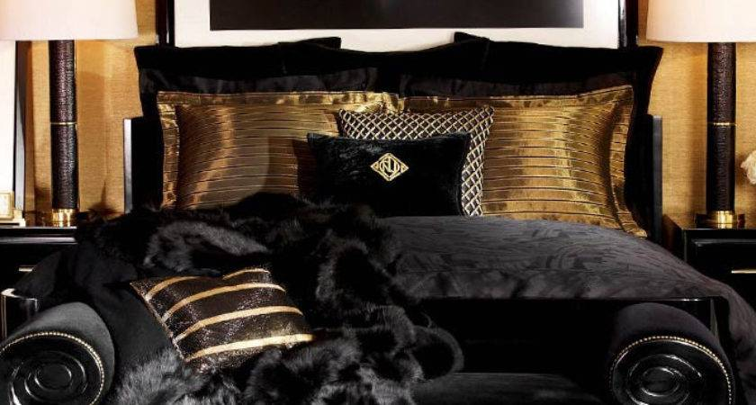 gold bedroom decor inspiration
