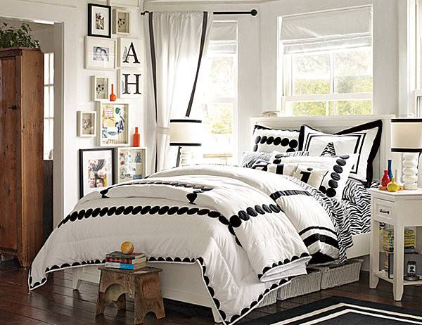 21 cool black and white girls bedroom