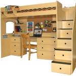 23 Photos And Inspiration Loft Beds With Desk Plans Homes Decor