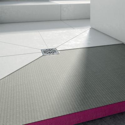 receveur a carreler extra plat q board etanche 120 x 90 cm siphon vertical