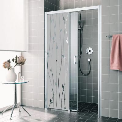 sticker occultant lianes romantiques ambiance sticker vitres portes de douche h 120 x l 35 cm